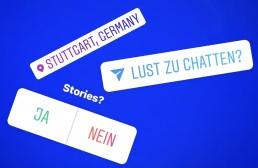 Instagram Stories mit Stickern, Umfragen, Standort und vielem mehr
